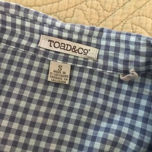 Toad&Co Tops - Toad & Co. blue-purple gingham shirt